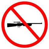 Graphic of no guns or weapons sign